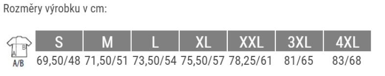 K356 velikosti