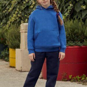 mikina dětská bez zipu s kapucí