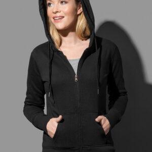 mikina dámská s kapucí a zipem